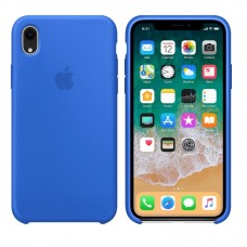 Silicone case накладка для iPhone Xr Синий