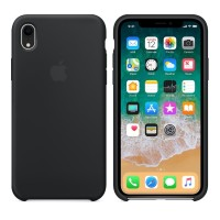 Silicone case накладка для iPhone Xr Черный