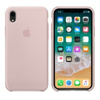 Silicone case накладка для iPhone Xr Розовый