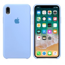 Silicone case накладка для iPhone Xr Голубой
